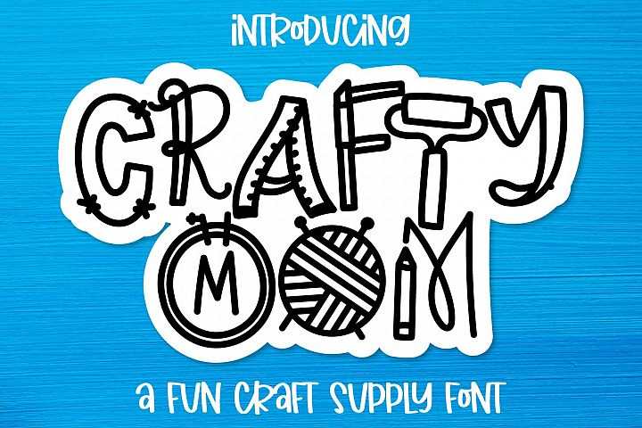 Crafty Mom - A Fun Craft Supply Font