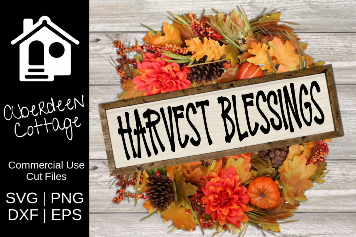Harvest Blessings Seasonal SVG Design