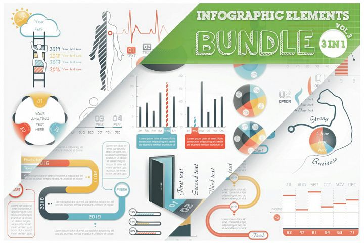 Infographic Elements Bundle 3 in 1 (vol 3)