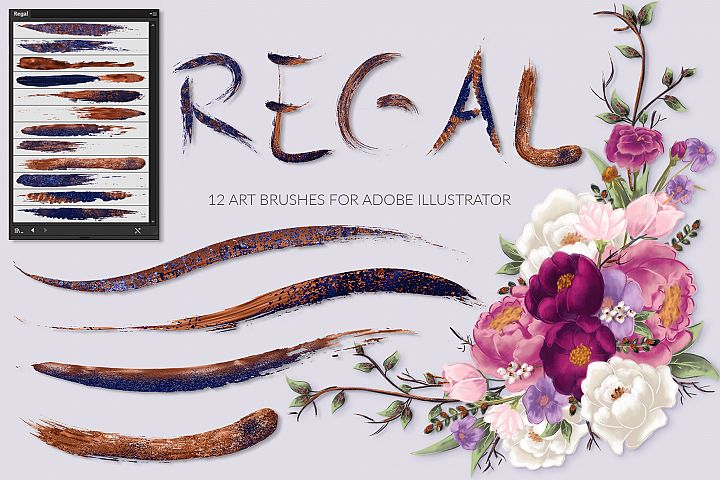 Regal Brushes for Illustrator