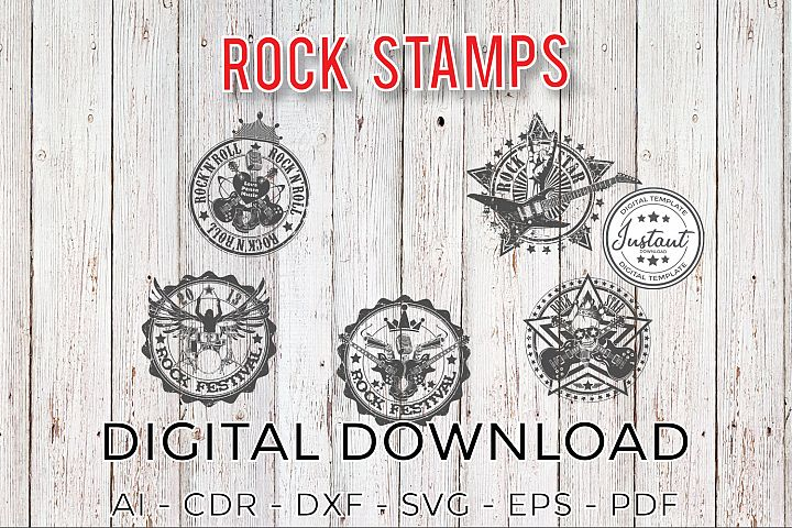 ROCK SVG, Rock PNG, Rock Stamp template, Rock Clipart