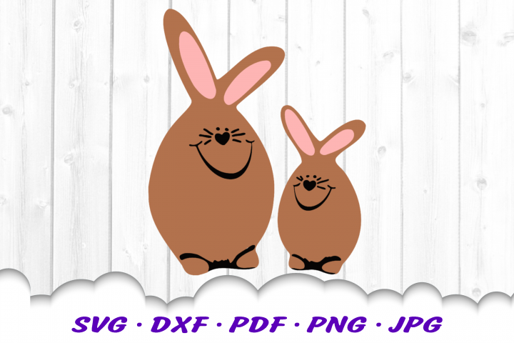 Easter Bunny Eggs SVG DXF Cut Files Bundle