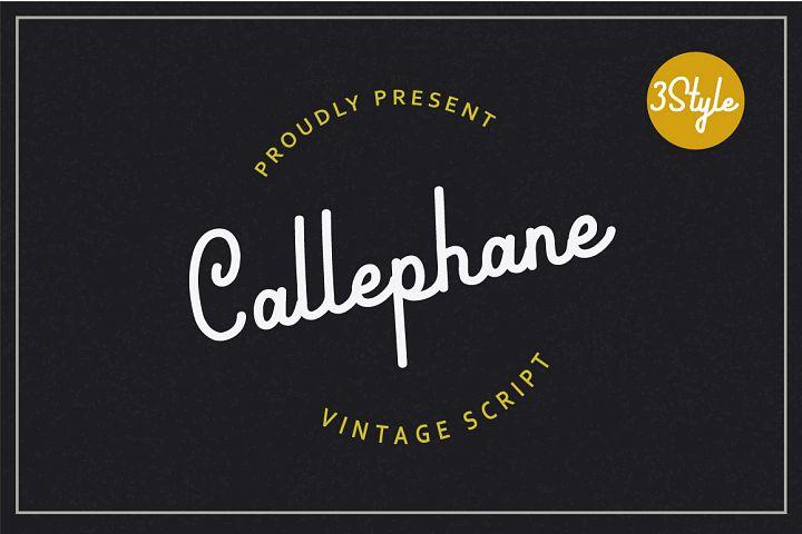 Callephane Retro Script