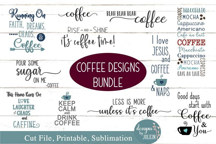 Coffee Design Bundle SVG, png, eps, sublimation, printable