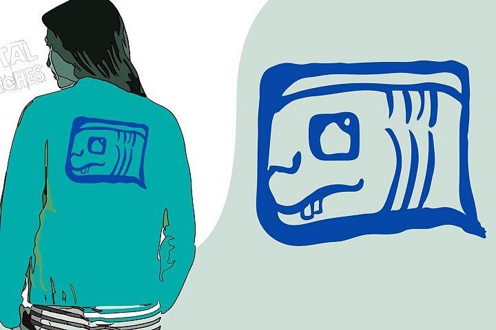Maya Symbol Vector Graphic, Mayan Tzolkin Calender Clipart