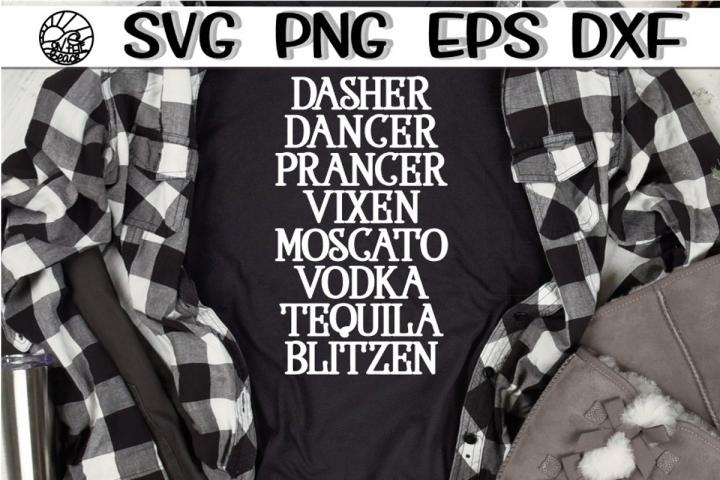 Reindeer Names - Drinks - SVG PNG EPS DXF