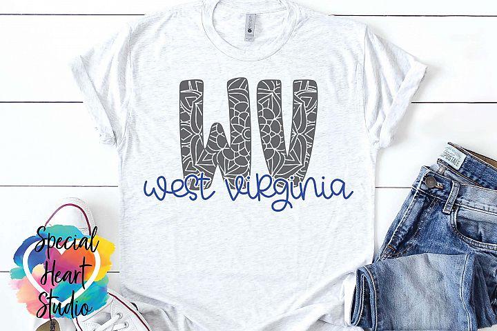 West Virginia Mandala - A State SVG Cut File