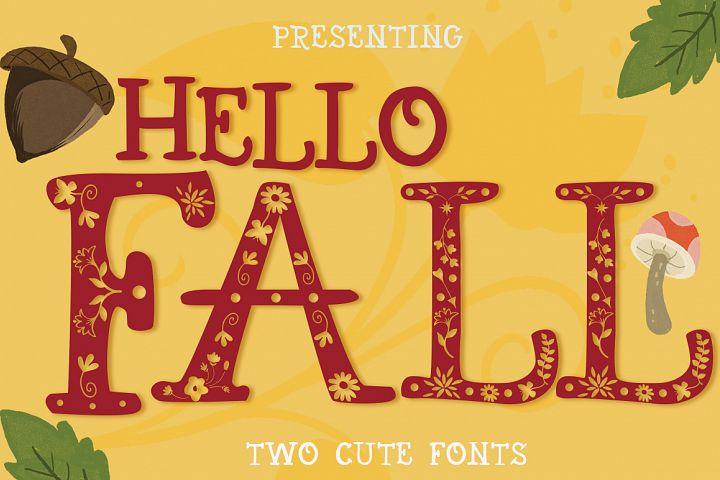 Hello Fall Font