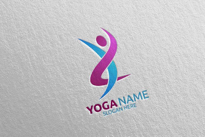 Yoga and Spa Lotus Flower logo 61