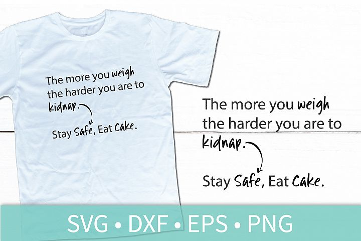 Stay Safe Eat Cake SVG - Funny Quote SVG DXF PNG EPS