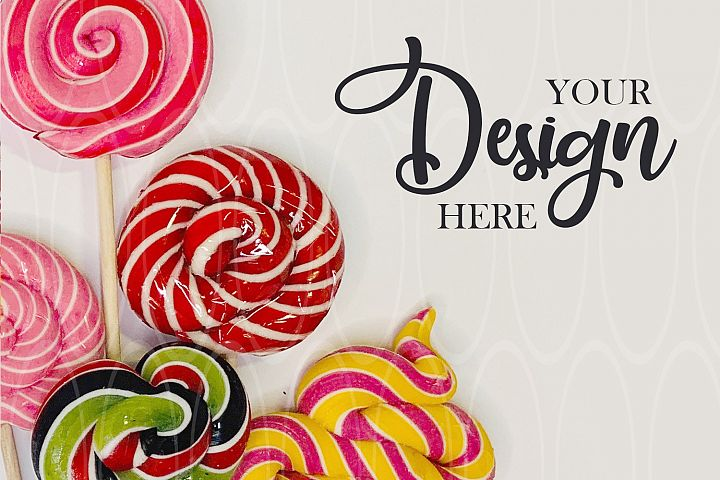 Candies Styled Stock Photo Product Plate Flat Lay Plate