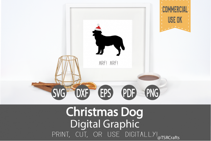 Christmas Labrador - Print, Cut or use Digitally-SVG,EPS,PNG
