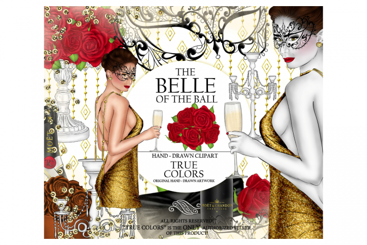 The Belle of the Ball Clip Art Ball Girl Fashion