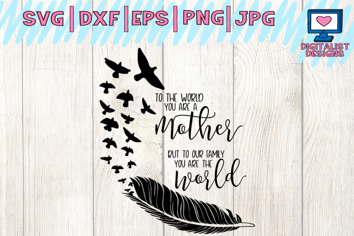 mothers day svg, mom svg, mother gift, mothers day gift, to the world you are, family svg, svg for cricut, printable, silhouette, mom gift