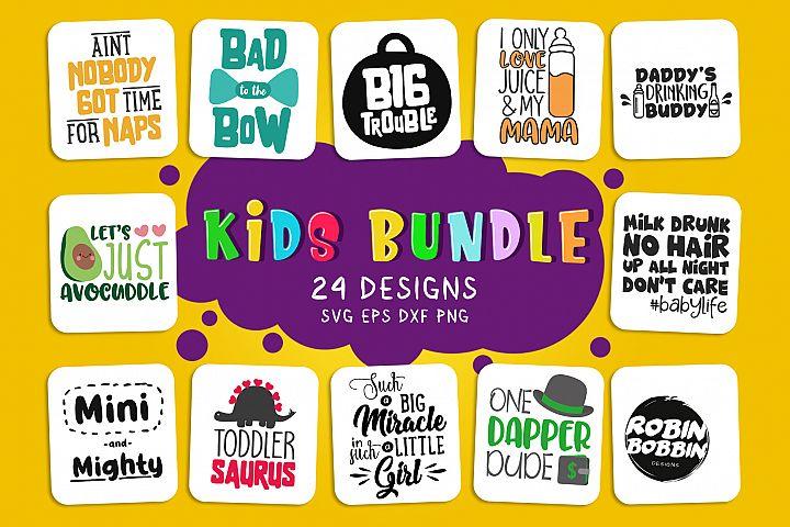 Big Kids Bundle - Baby Bundle of 24 Designs