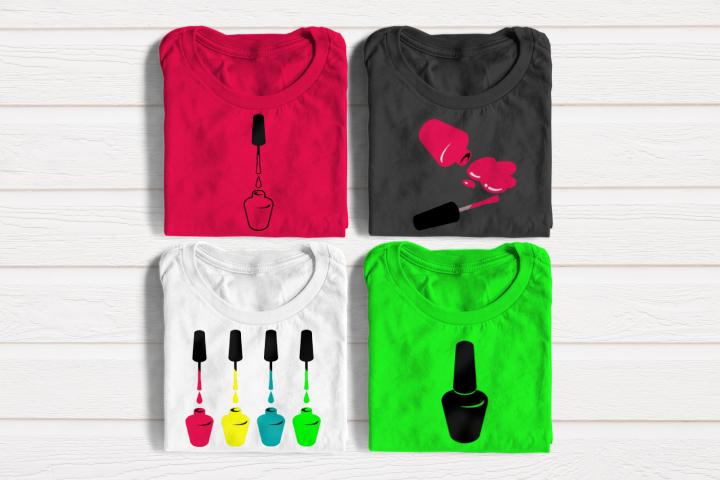 Nail Polish Set SVG Design