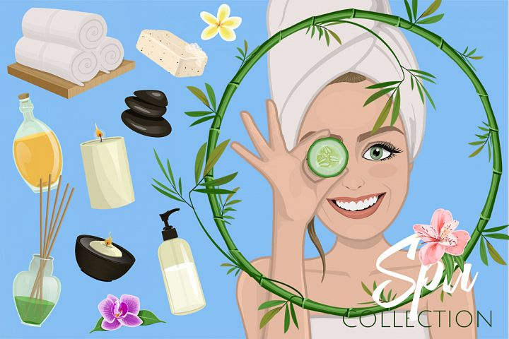 Luxury Spa Illustrations Collection