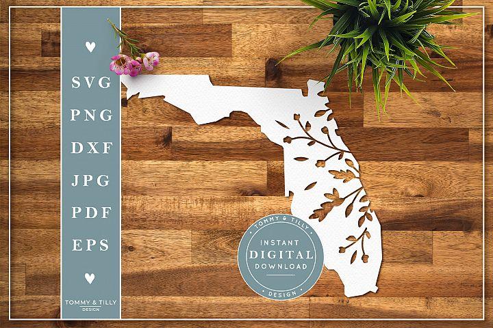 Florida State - Cut File | Papercut Template | SVG