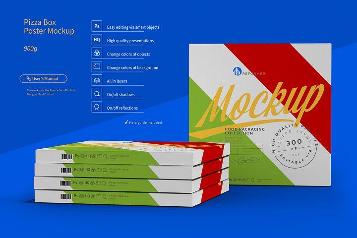 Pizza Box Poster Mockup