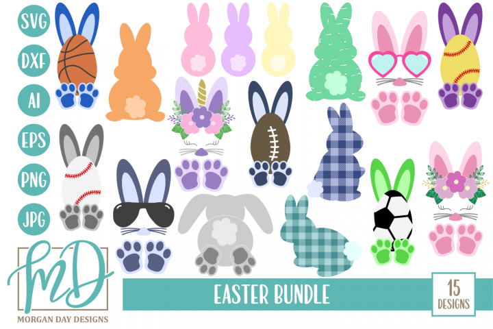 Easter SVG Bundle - Easter SVG, DXF, AI, EPS, PNG, JPEG