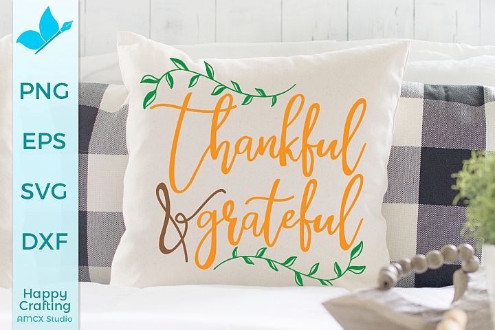Thankful Grateful - Fall home decor craft file