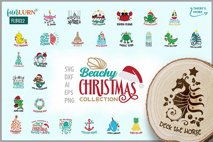 Beachy Christmas Collection | SVG Cut File Bundle