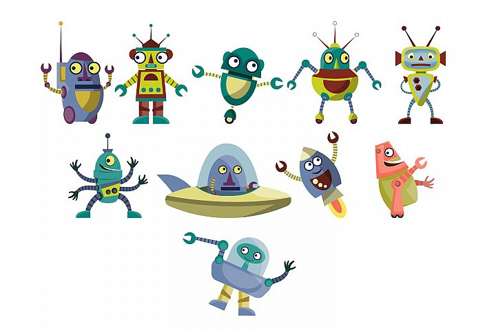Little Robots illustration pack