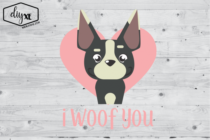I Woof You - A Valentines Day Sublimation Graphic