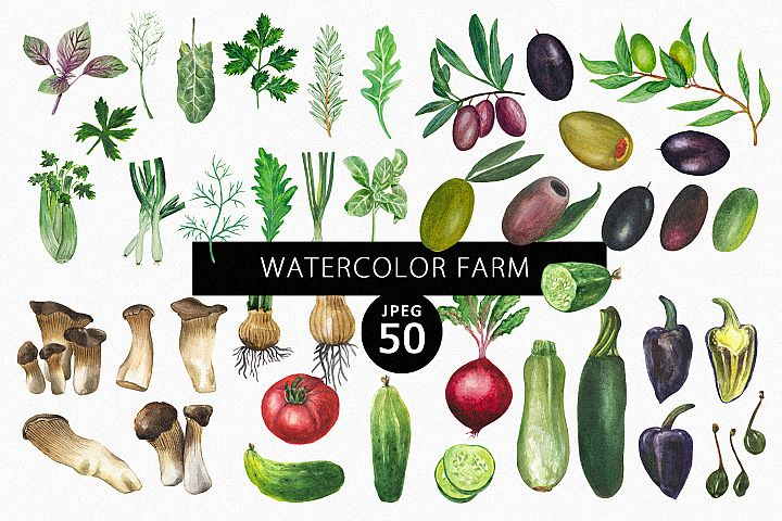 Watercolor Farm