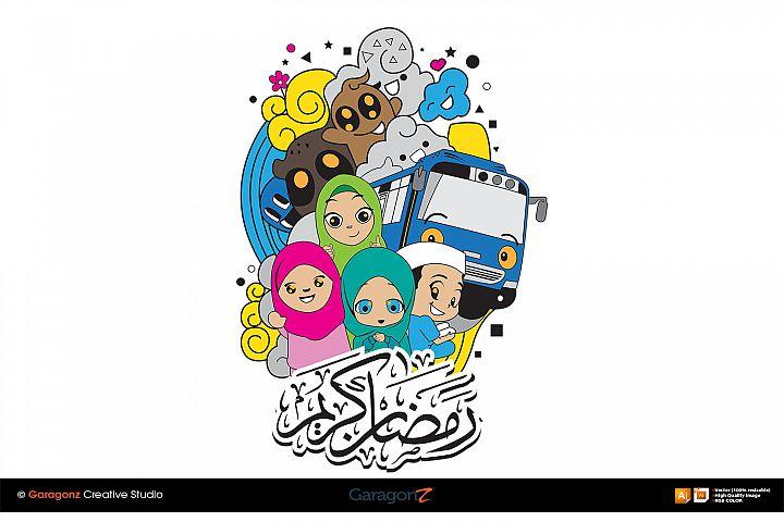 Ramadhan kids vector
