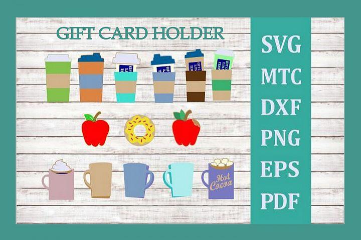 SVG 12 Gift Card Holder Tea Cocoa Coffee Mug Cup BiG Bundle