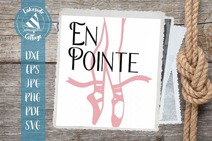 En Point Ballet Dancer SVG Design
