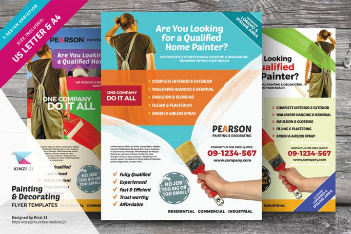Painting & Decorating Flyer Templates