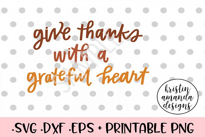 Give Thanks Fall SVG Cut File