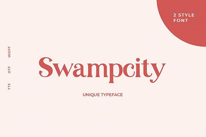 Swampcity typeface