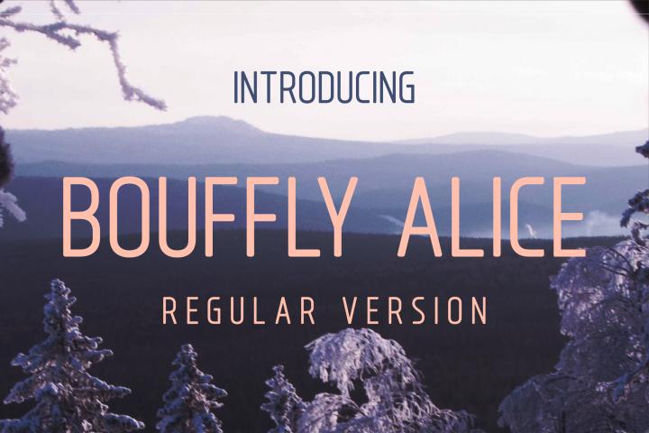Bouffly Alice Regular Versionl Elegant font sans serif