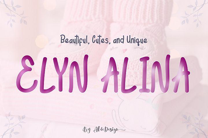 Elyn Alina - Handmade Font