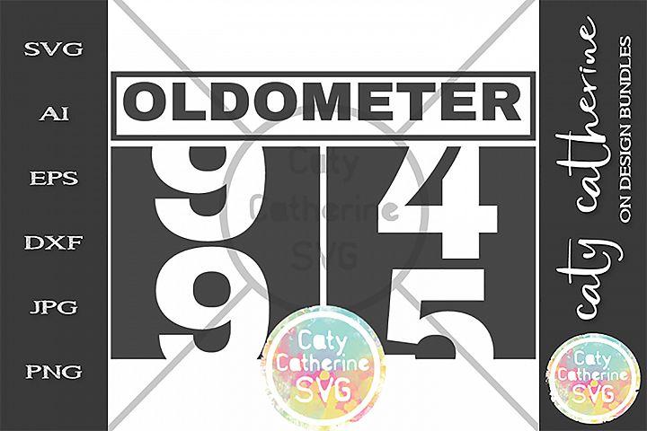 95 Ninety Five Ninety Fifth Birthday Oldometer SVG Cut File