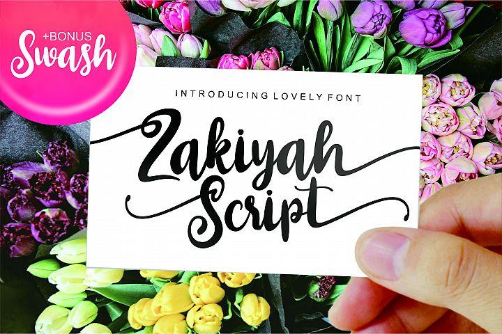 Zakiyah Lovely Font