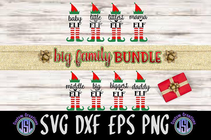 Elf Big Family Bundle of 8 SVG DXF EPS PNG Digital File
