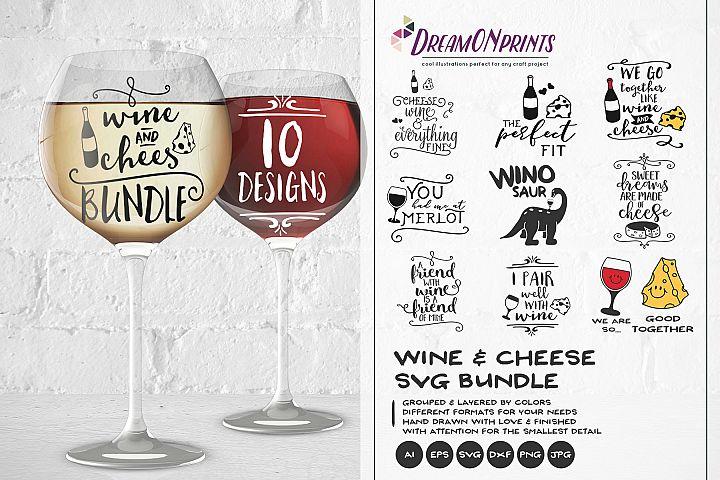 Wine and Cheese SVG BUNDLE - Bundle SVG Cut Files