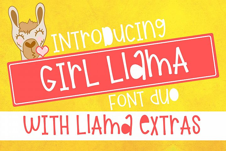 Girl Llama - Font Duo With Extras