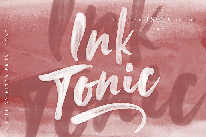 Ink Tonic | A Free Spirited SVG Brush Font