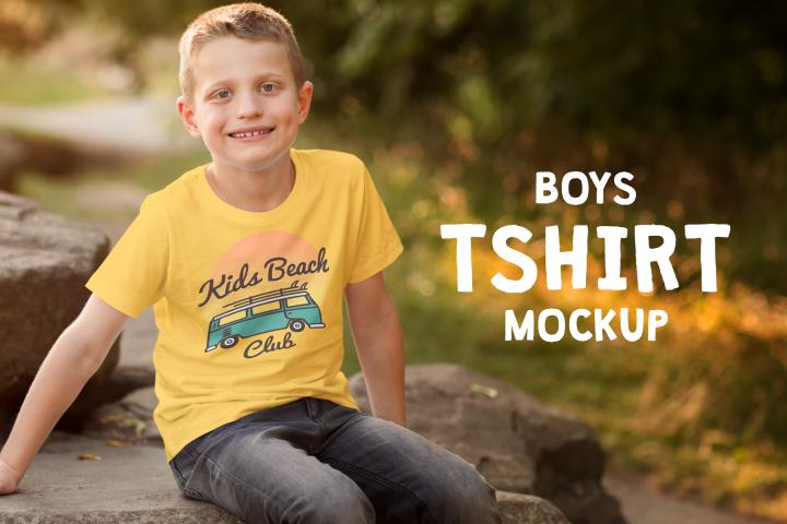 Boys T-shirt Mock-up