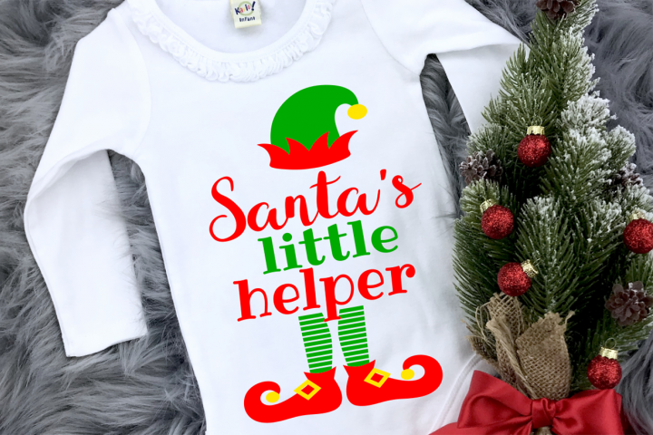 Elf Christmas Kids Santa Shirt SVG DXF EPS PNG PDF