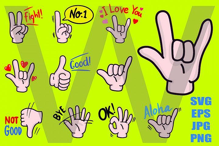 Happy Hand Set - PNG SVG EPS PNG
