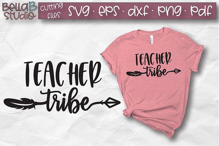 Teacher Tribe SVG, Teacher SVG File, Arrow, Feathers