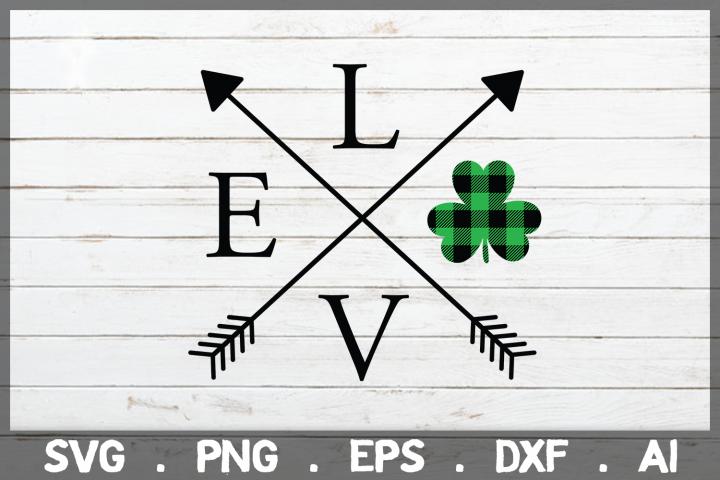 SALE! Love Shamrock arrows svg, st patricks day svg