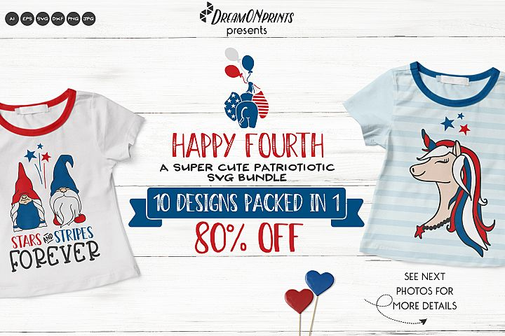 Happy 4th of July | Cute Patriotic SVG Bundle