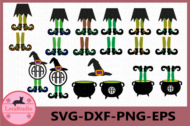 Witch Legs in Cauldron svg, Halloween svg, Witch Legs